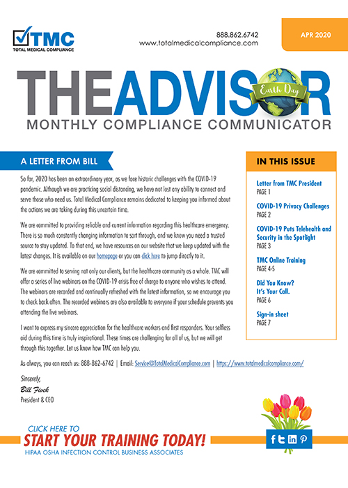 Total medical compliance April Newsletter
