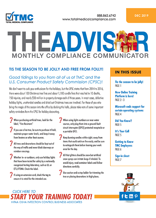 TMC Advisor newsletter December 2019 issue