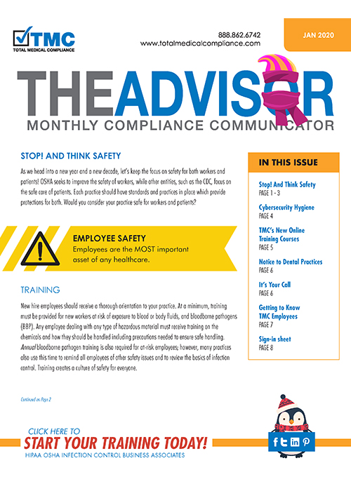 Total Medical Compliance January 2020 Advisor