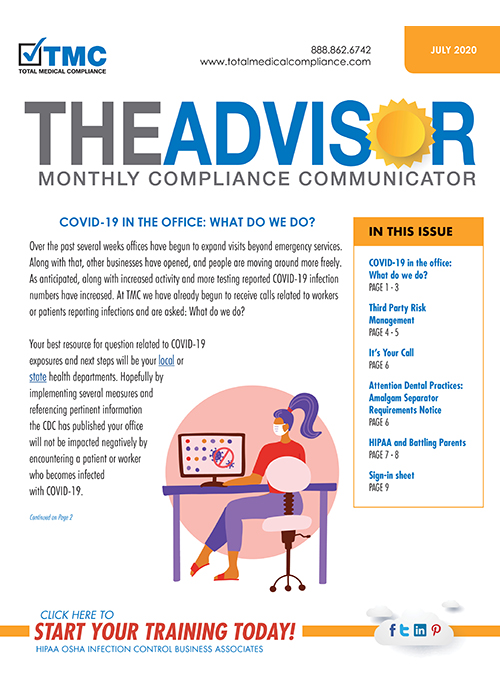 total medical compliance advisor newsletter July 2020