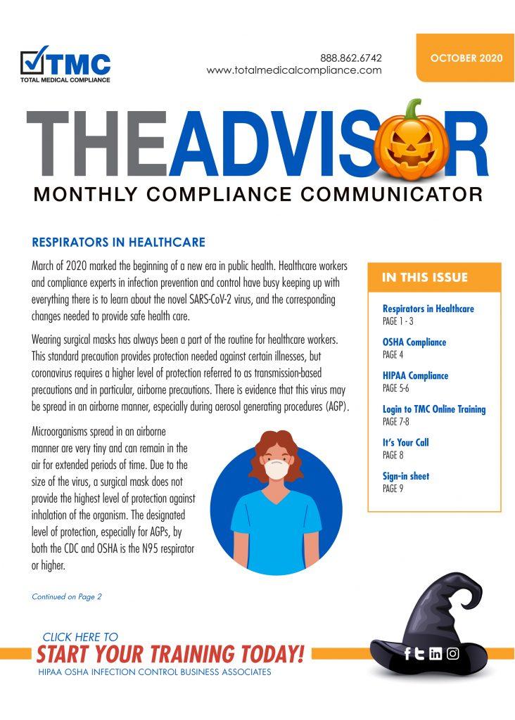 Total Medical Compliance Advisor newsletter October 2020