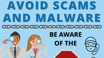 avoid scams infographic