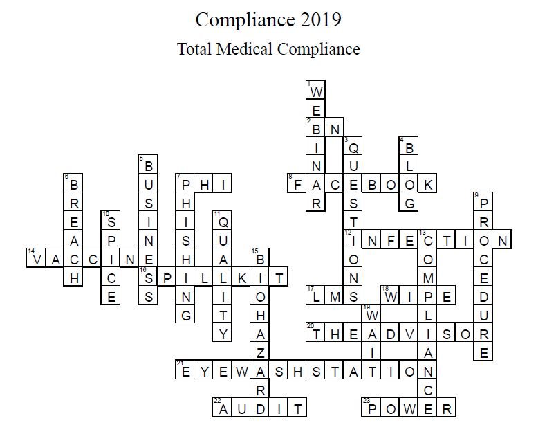 crossword answers for March Advisor 2019