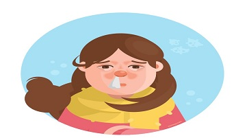 girl has a cold infection control