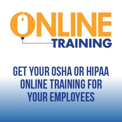TMC OSHA & HIPAA online training store graphic